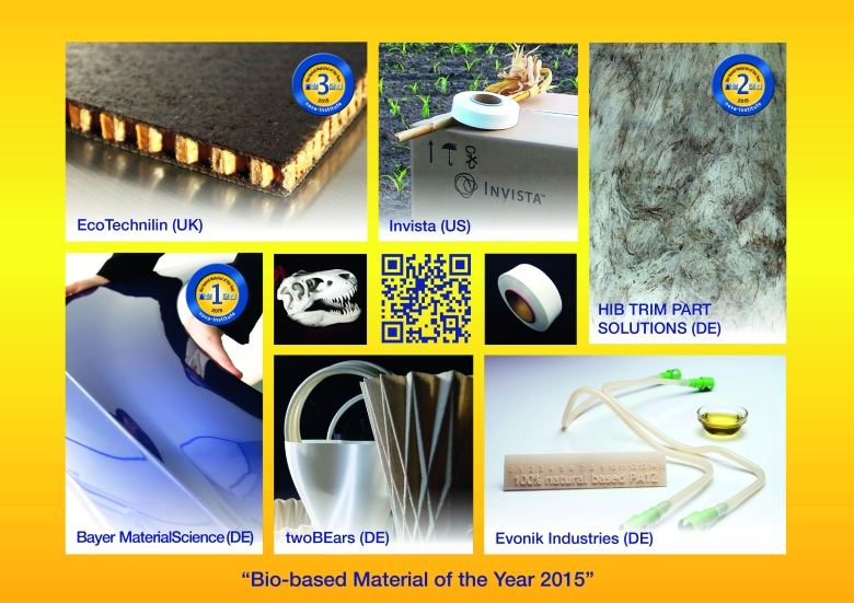 Innovation Award Nominees Bio-based material of 2015