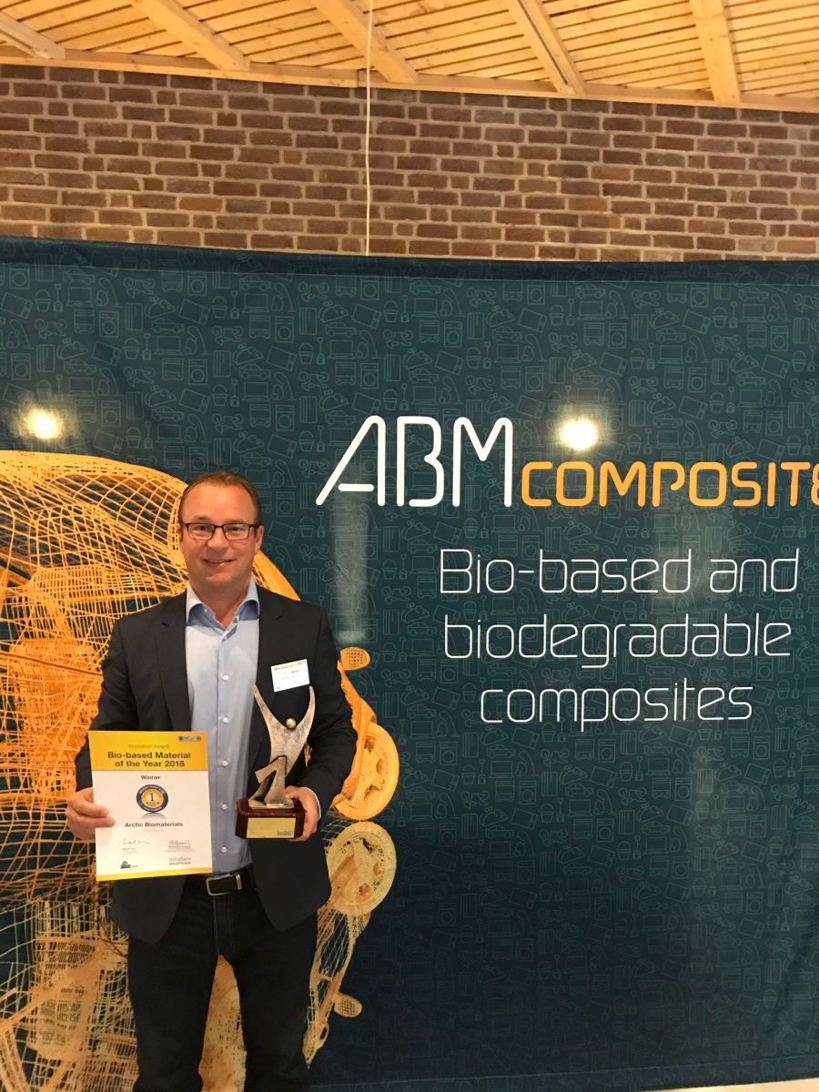 Arctic Biomaterials Wins Prestigious Innovation Award Biobased Material of the Year