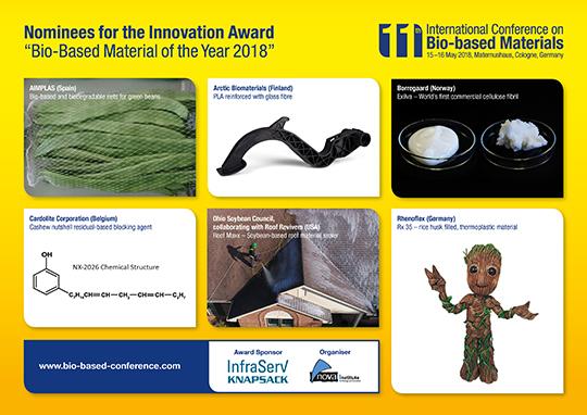 Innovation award 2018 biobased material